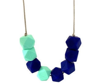 The EAC blue  necklace   feeding BPA free silicone  gift