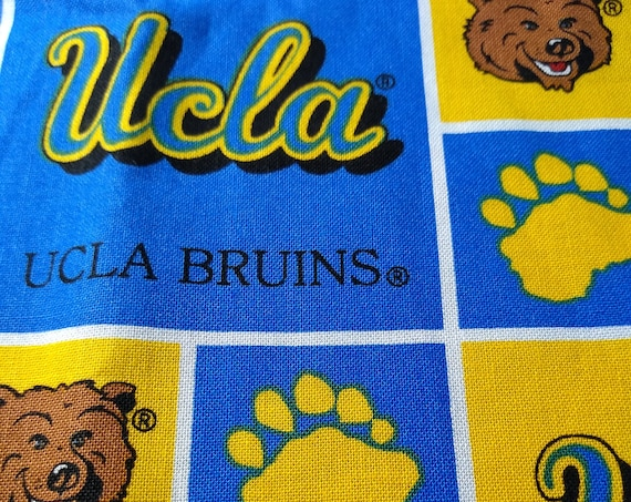 UCLA Adjustable Handsewn Cotton Washable Mask with Nosewire