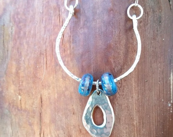 Hand hammered Sterling Silver Necklace