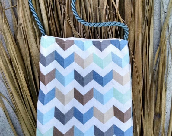 Handsewn Chevron Purse