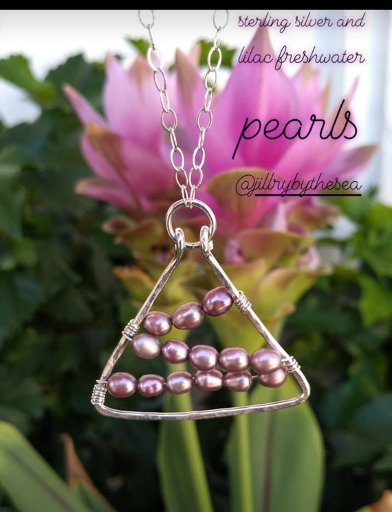 Sterling Silver and Pink Freshwater Pearl Necklace
