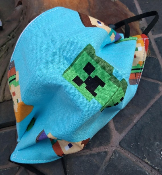 Children's Adjustable Washable Minecraft Facemask