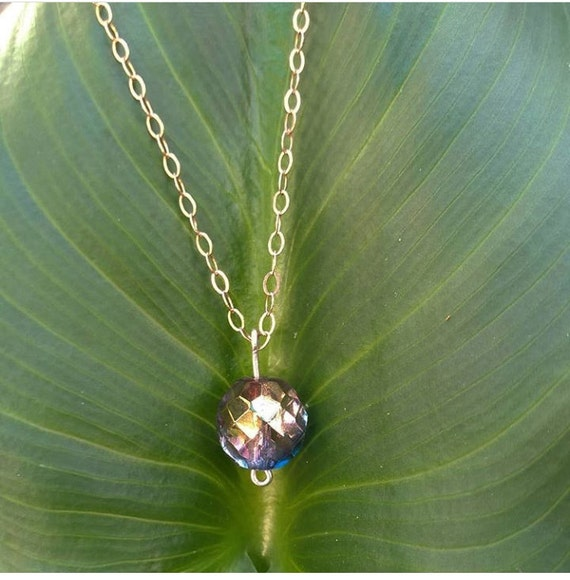 Rosegold Necklace with Crystal ball
