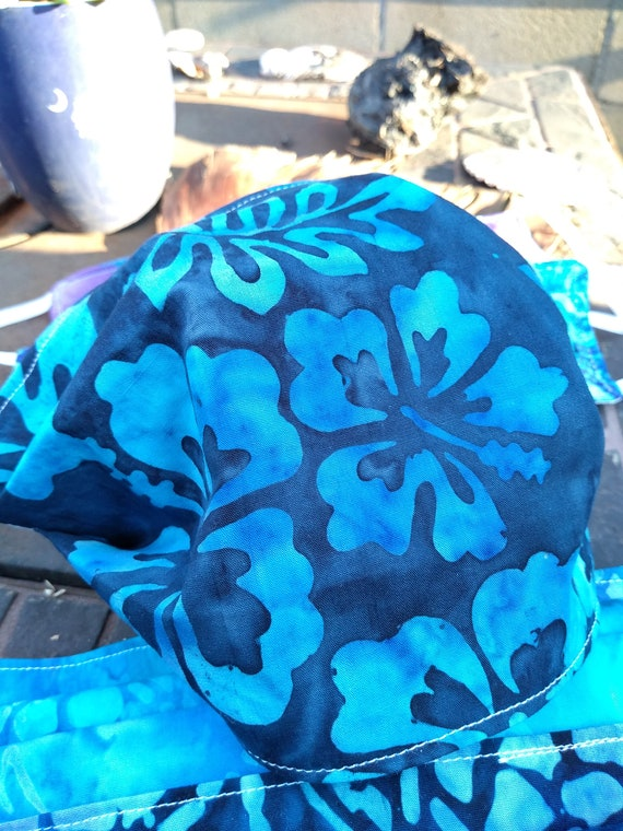 Handsewn Batik Cotton Washable Adjustable Mask with Nosewire