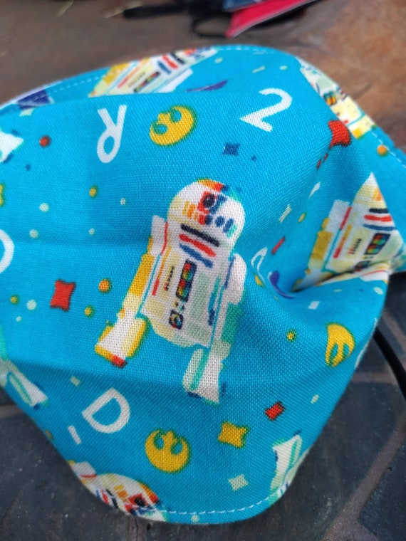 Star Wars R2D2 Adjustable, Washable Facemask with Nosewire