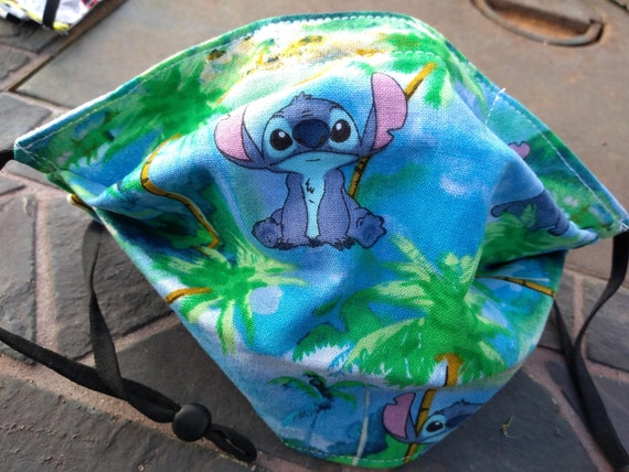 Stitch Children's Adjustable, Washable Facemask with Nosewire