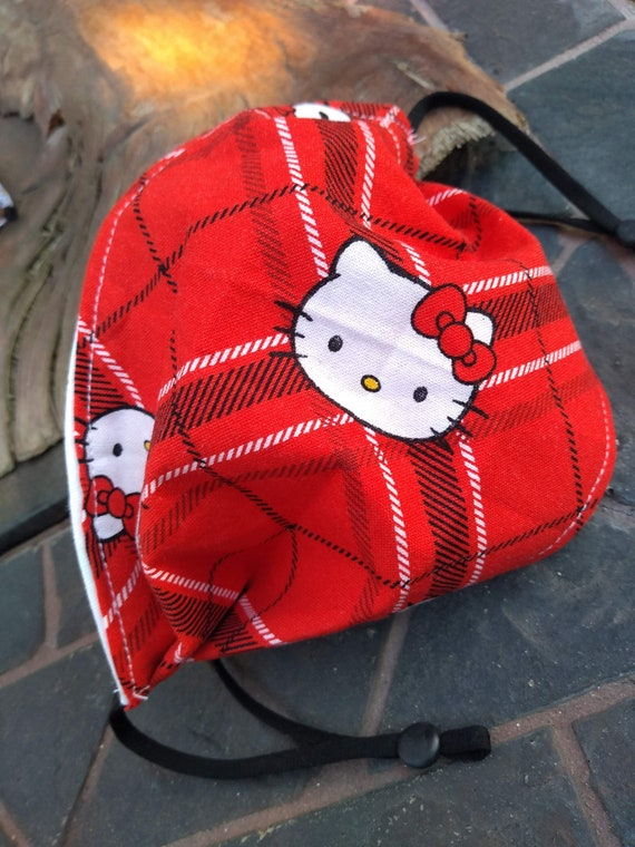 Hello Kitty Adjustable Washable Facemask with Nosewire
