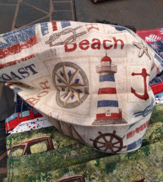 New England Patriotic Cotton Adjustable Mask with Nosewire
