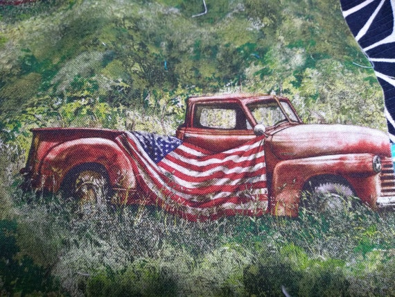 Patriotic Old Truck with Flag Cotton Adjustable Mask with Nosewire