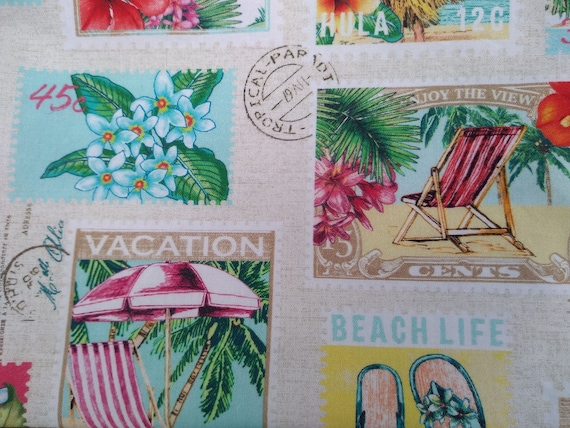 Hawaiian Stamp Adjustable Cotton Facemask with Nosewire