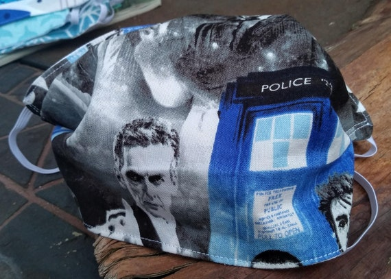 Handsewn Cotton Washable Dr. Who Mask