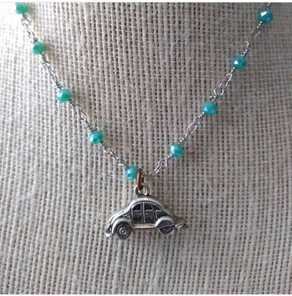 Sterling Silver VW Bug Necklace