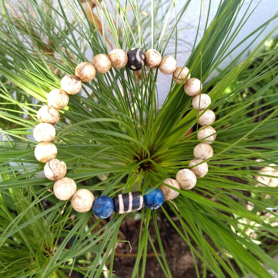 Hand beaded Bracelet with Vintage Beads