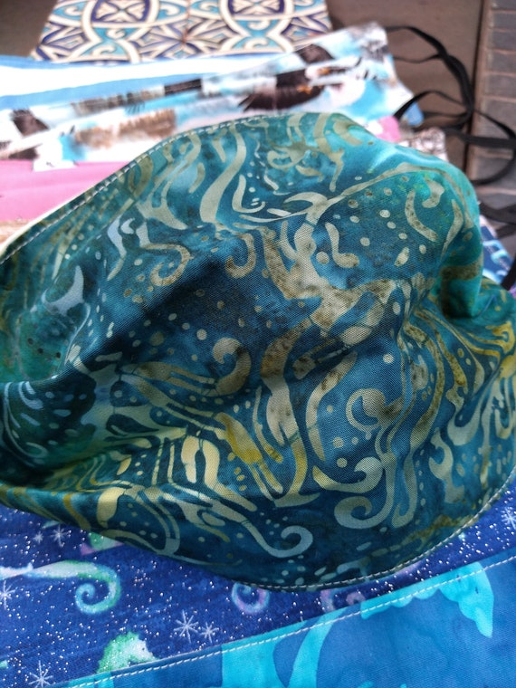 Batik Jellyfish Ajustable Hand-sewn Cotton Washable Mask