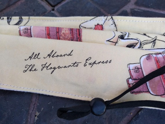 Harry Potter Adjustable Handsewn Cotton Washable Mask with Nosewire!