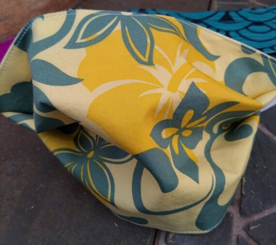 Hawaiian print Adjustable Cotton Mask with Nosewire