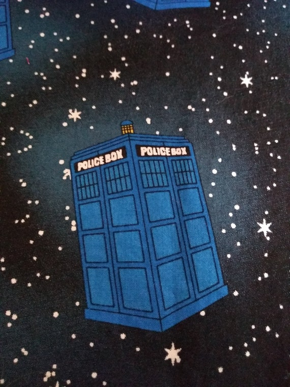 Dr. Who Tardis Adjustable Cotton Washable Mask with Nosewire