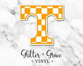 b300c6e163cdc1 Checkerboard Tennessee Car Decal with White Background - Rocky Top - YETI  Decal - VOLS - Knoxville - Customizable, Personalized State Decal