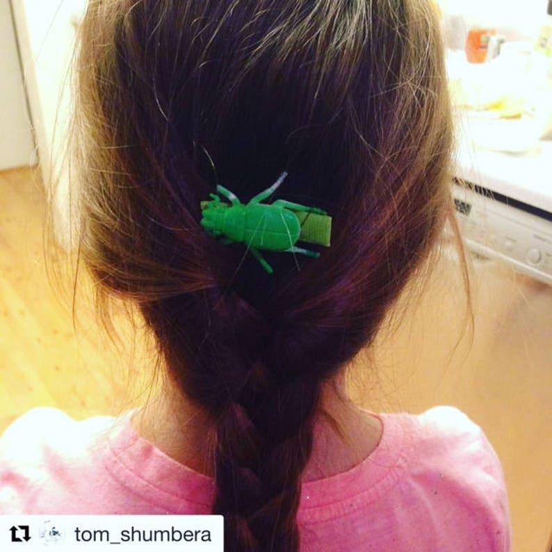 SET of 3 bug hair clips Boy Hair Clips Girl Bug Hair Clips Toddler Hair Clips Creepy Crawl Barrettes Halloween