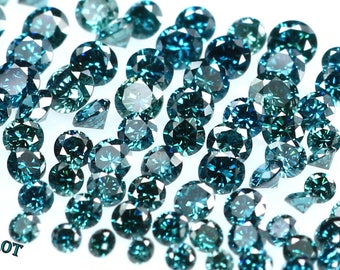 Natural Loose Diamond Round Blue Color VS1-SI1 Clarity 1.30 To 1.50 MM 25 Pcs Lot NQ9