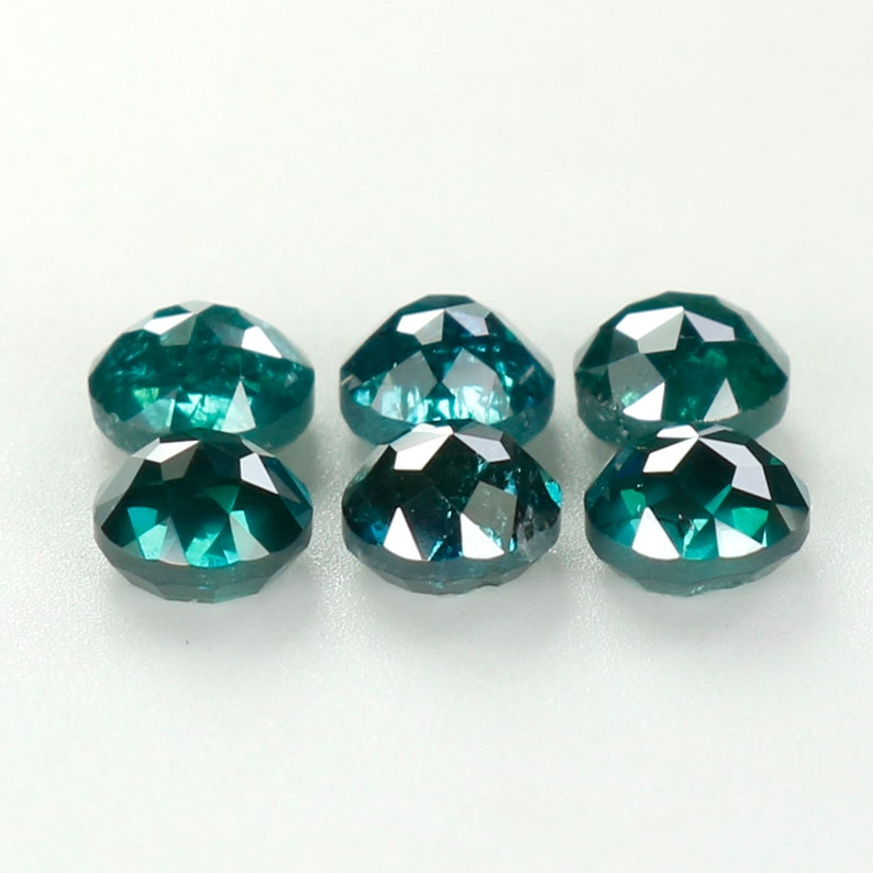 1.12 Ct Natural Loose Diamond Round Rose Cut Blue Color 6 pcs N474