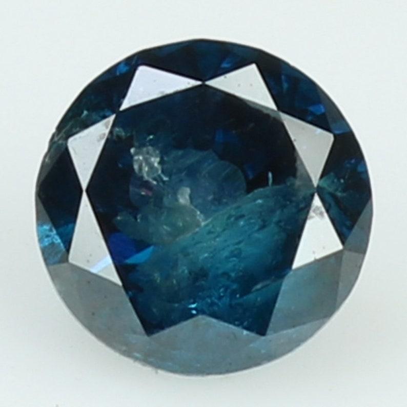 0.32 Ct Natural Loose Diamond Round Blue Color I3 Clarity 4.20 MM N9484