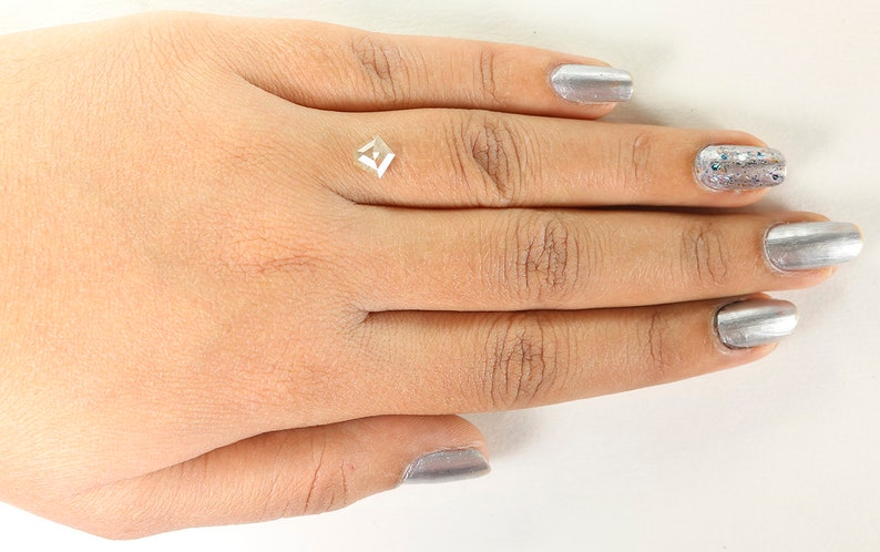 1.00 Ct Natural Loose Diamond Pentagon Yellow Grey Color 6.65 MM N485