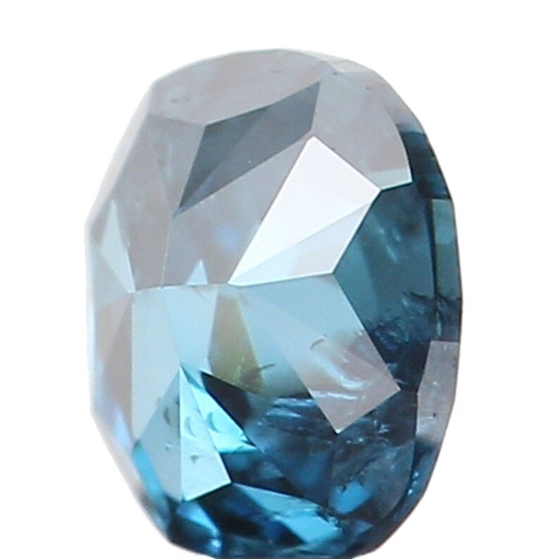 0.10 Ct Natural Loose Diamond Oval Blue Color I1 Clarity 3.10 MM N7633