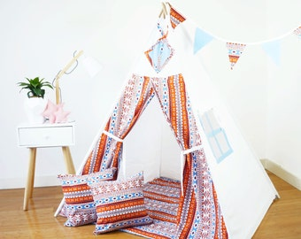 Kids Teepee (Play Tent, Childrens Teepee, Teepee Tent, Kids Tent, Tipi, Playhouse, Play teepee, Childrens Tipi, Wigwam,  Kids Teepee Tent)