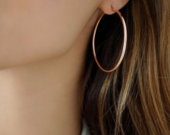 Quality 18K Hoop Earrings | 3 Sizes | Gold, Rose Gold and Silver