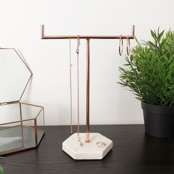 Solid Marble Gold Jewellery Stand Tree Organiser Etsy