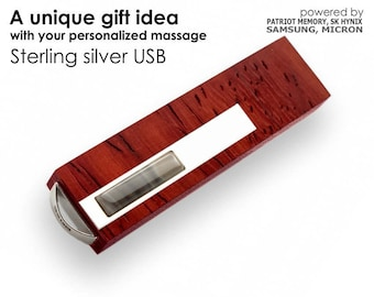 Unique birthday gifts Custom USB 3.0 16~128GB | Sterling Silver | Handmade,flash drive, wood usb,personalized flash drive,usb stick,pendrive