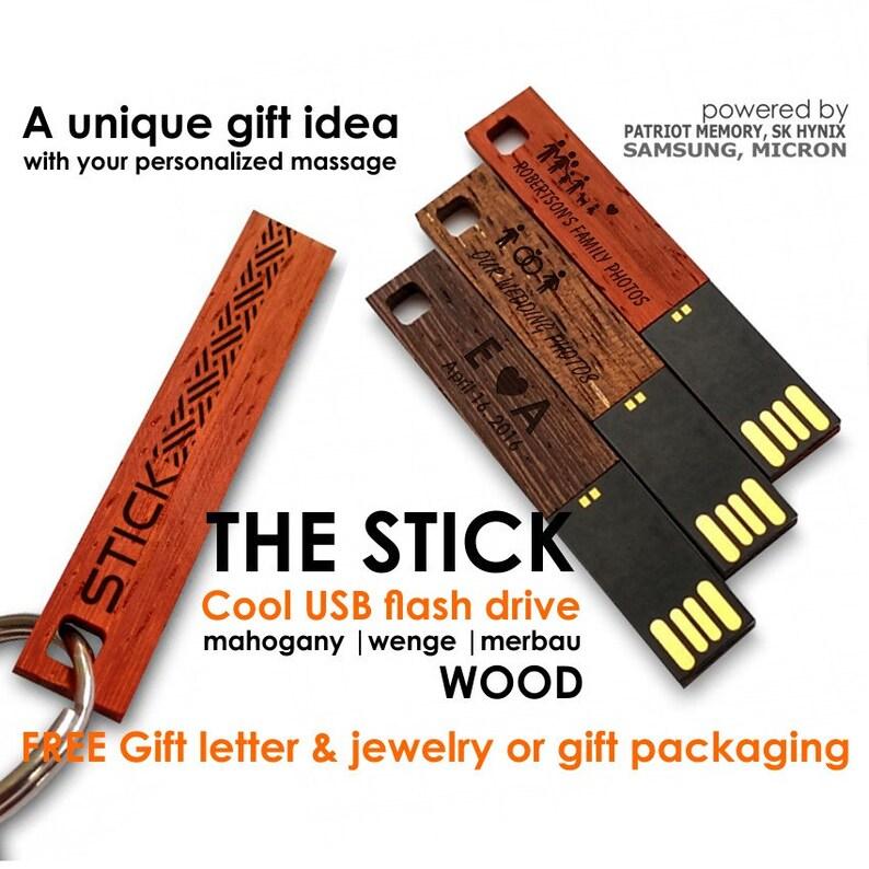 USB Flash Drive 864GB Wood usb Wooden usb Personalized image 0