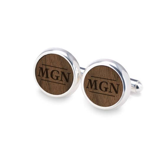 Camper Wood Cufflinks Gift For Him Wedding Gifts and Personalized Groomsman Gifts