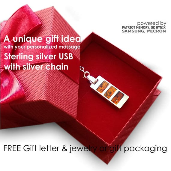 Unique Birthday GiftPersonalized Gift USB Necklace