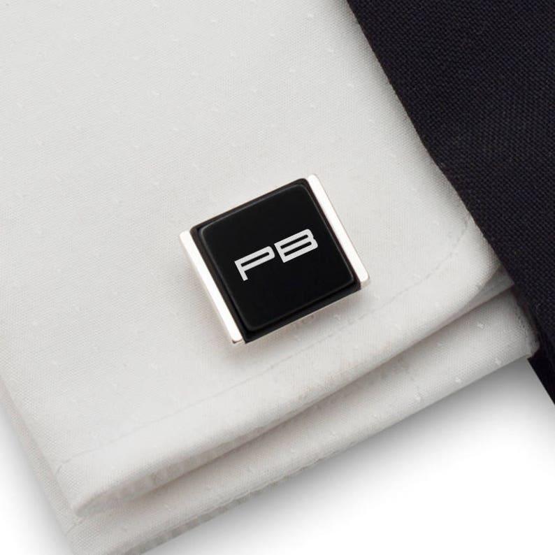 Birthday Gift idea Jedi initials Custom Cufflinks Silver Cufflinks Star Wars cufflinks Gift for Men Porsche Personalized Cufflinks