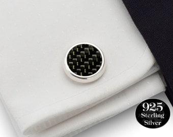 Real carbon fiber Cufflinks,Motorsport cufflinks, Black Carbon fibre Formula 1, Gifts for Men, Mens cufflinks, Carbon fiber gift