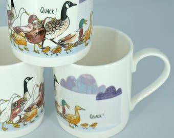 Ducks in Rain Mug