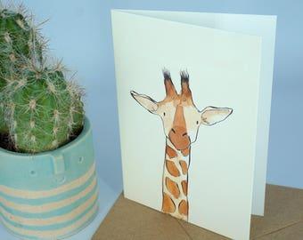 Giraffe Greetings Card