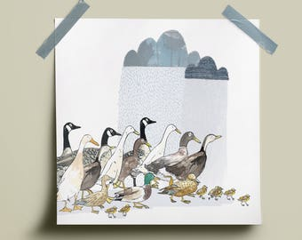 Ducks and Geese Print