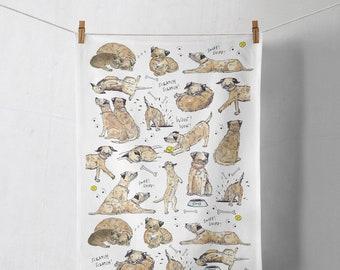 Tea Towel - Border Terrier