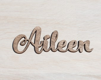 Set of 10 gold place cards names, laser cut name cards for wedding, Wedding place cards, Wedding name cards