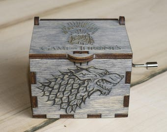 handmade wooden music box Game of Thrones, thrones music box, Christmas gifts, throne of swords,  Thrones music box, men gift