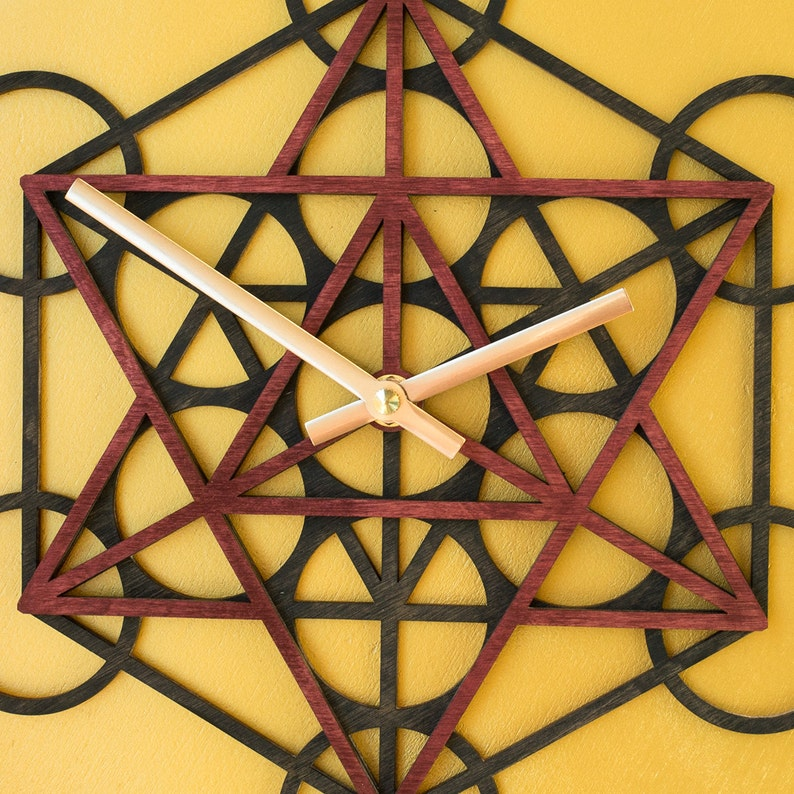 Metatron's Cube Wall Decor Sacred Geometry Laser Cut image 0