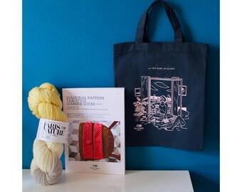 "Booklet Kit_No.1 + ""Paris Nature"" naturally handdyed wool"