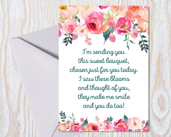 Outstanding Friendship Greeting Card Watercolour Flowers Modern Pink Etsy Funny Birthday Cards Online Fluifree Goldxyz