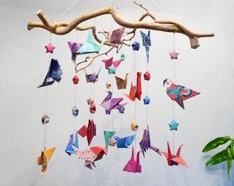 Mobile bird origami