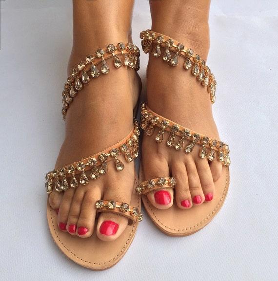 Leather Sandals ''Marguerite'' Bridal Luxury Worldwide SHIPPING sandals Wedding rhinestones EXPRESS strappy FREE with Sandals 1wRXzR