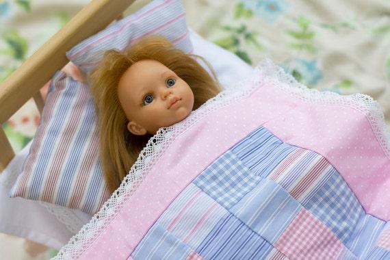 Doll Bedding Set 15 Cotton Patchwork Quilt Doll Crib Etsy