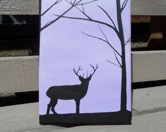 Deer Silhouette Painting
